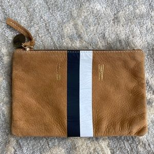 Clare V zippered leather pouch
